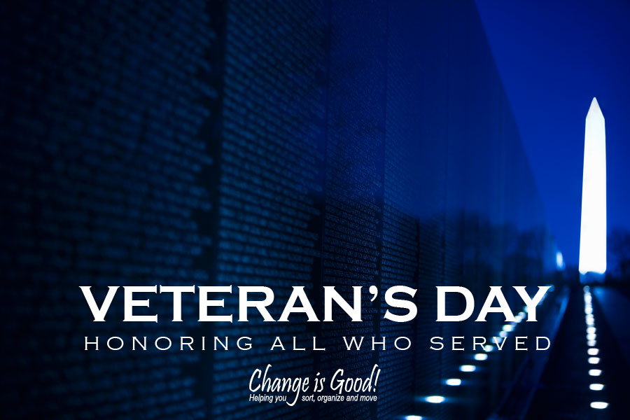 Happy Veteran's Day Honoring those who have served our country.